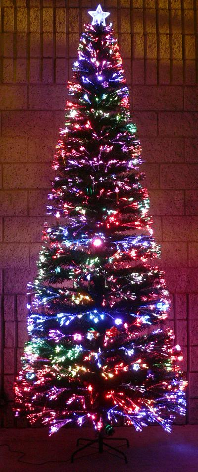 fiber optic LED tree
